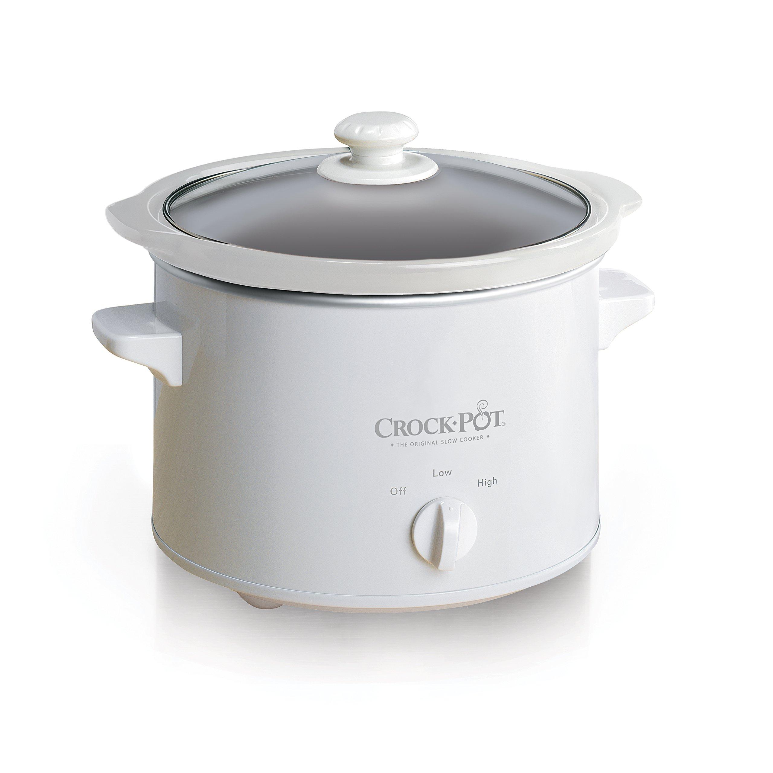 Mr. Coffee Crock-Pot 5025-WG-NP 2.5QT, White Slow Cooker, 2.5 quarts,