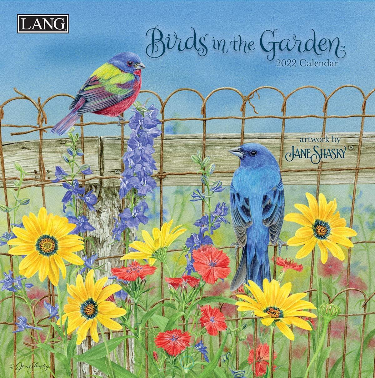 Lang Birds in The Garden 2022 Mini Wall Calendar (22991079268)