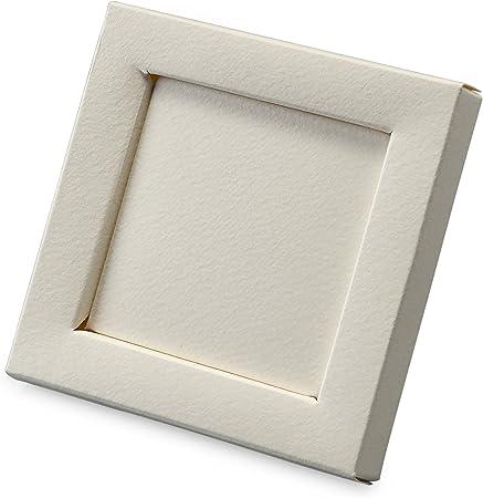 Mopec Caja Marco de Color Marfil, Pack de 25 Unidades, Cartulina gráfica, 1.50x10.00x10.00 cm: Amazon.es: Hogar