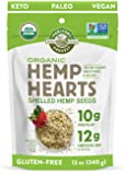 Manitoba Harvest Organic Hemp Hearts Shelled Hemp Seeds, 12 Ounce (Pack of 1); with 10g Protein & 12g Omegas per Serving…