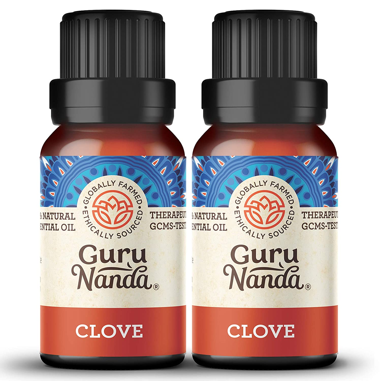 GuruNanda Clove Essential Oil (2 Pack) - 100% Pure Therapeutic Grade, Natural Healing Oil for Oral and Dental Care, Use in Diffuser for Invigorating Spicy Scent (15 ml x 2)