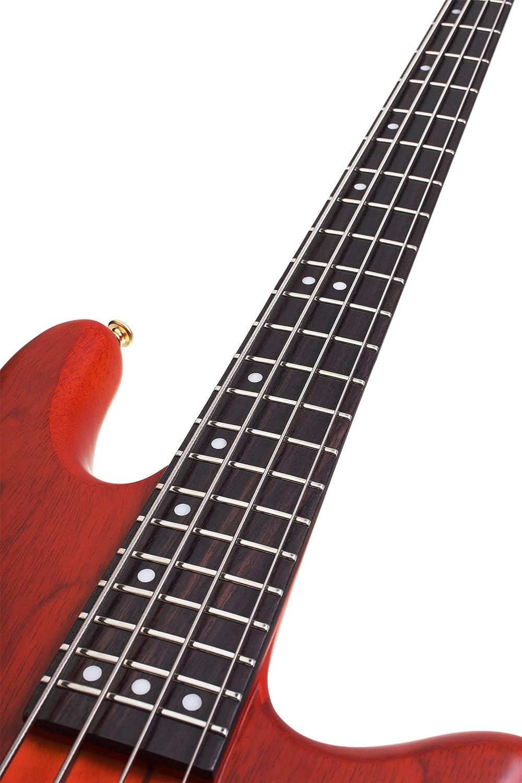 Schecter Stiletto Studio 4 Bass String See Through Yamaha Rbx 374 Wiring Schematic Black Satin Musical Instruments