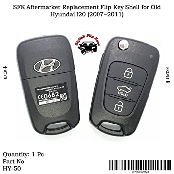 Sfk Aftermarket Replacement Flip Key Shell For Old Hyundai I20 2007