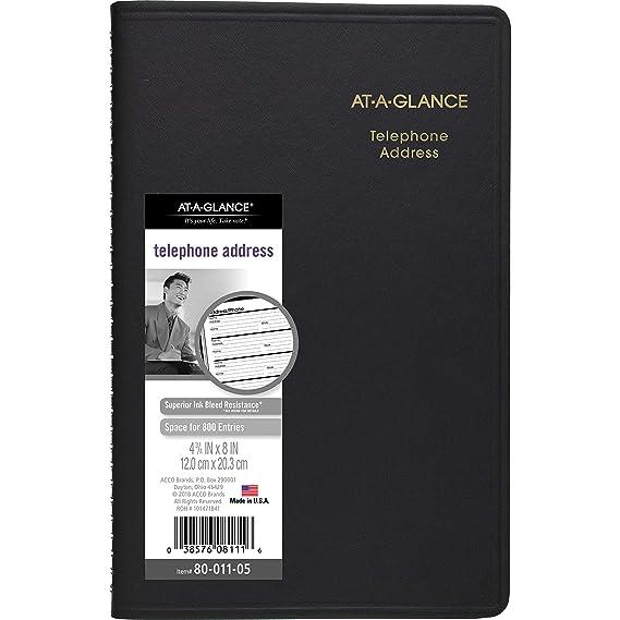 Amazon.com: AT-A-GLANCE 8001105 - Libreta de direcciones y ...