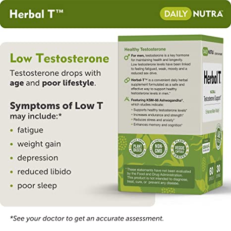 Natural supplements for low testosterone in men