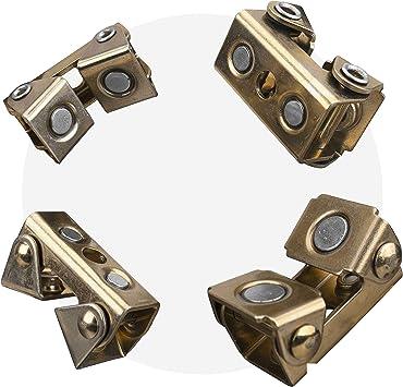 4x Adjustable Magnetic Welding Clamps V Type Pads Fixture Holder Strong Welder