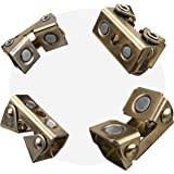 """Strong Hand Tools, Magnetic V-Pads Kit, Magnets On Both Pad Face & Bottom, 4 Piece Kit (XDV4: 2 pcs. 2"""", Pull Force 12 lbs) ("""