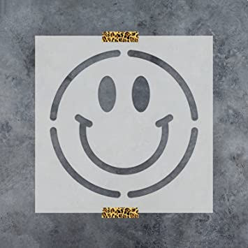 amazon com smiley face stencil template reusable stencil with