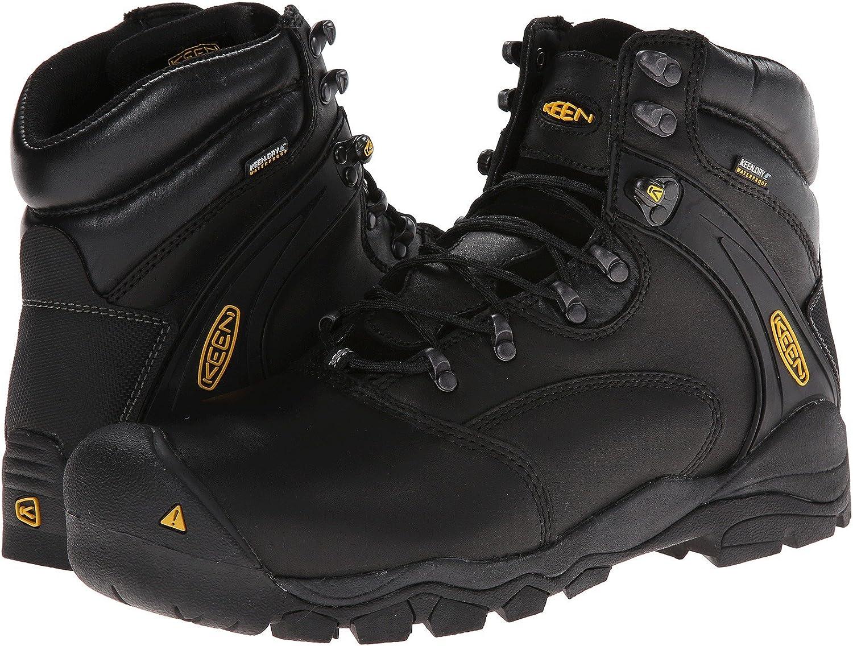 [キーン] メンズハイキングアウトドアブーツ・靴 Louisville 6 Black 11.5 (29.5cm) D - Medium [並行輸入品]