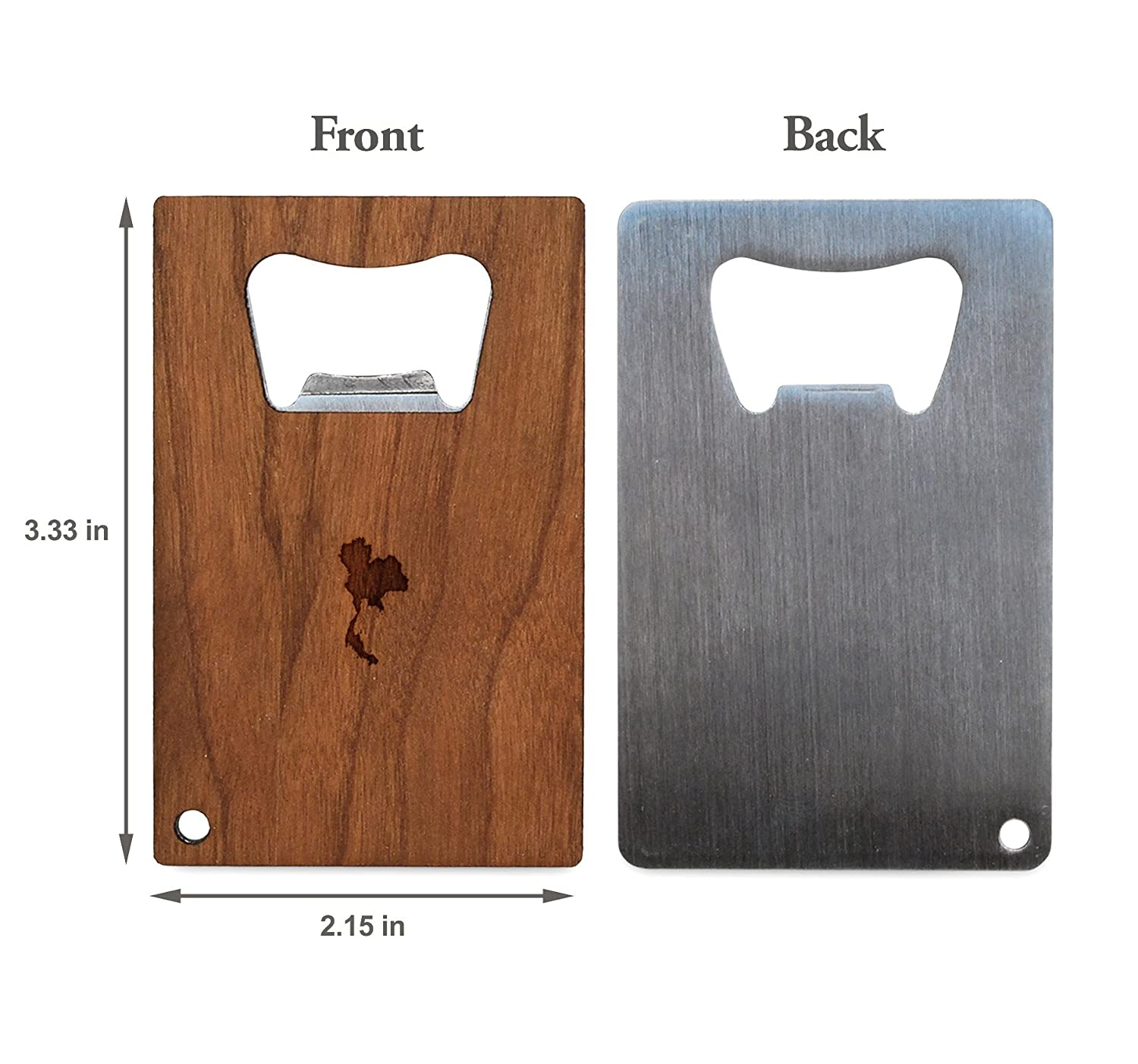Amazon com: WOODEN ACCESSORIES COMPANY Credit Card Sized
