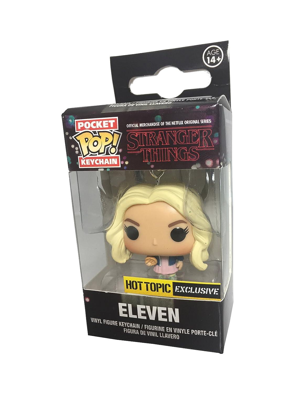 Stranger Things Eleven Elf mit eggos Funko Pop Schlüsselanhänger