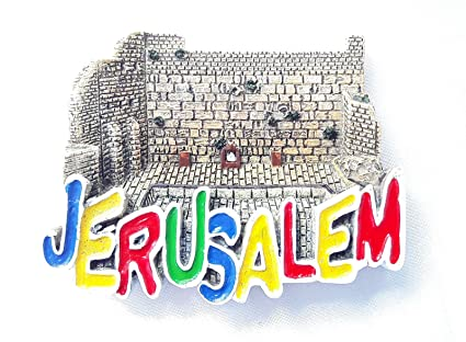 souvenir fridge magnet Jerusalem Old City The Western Wall israel holyland  3D