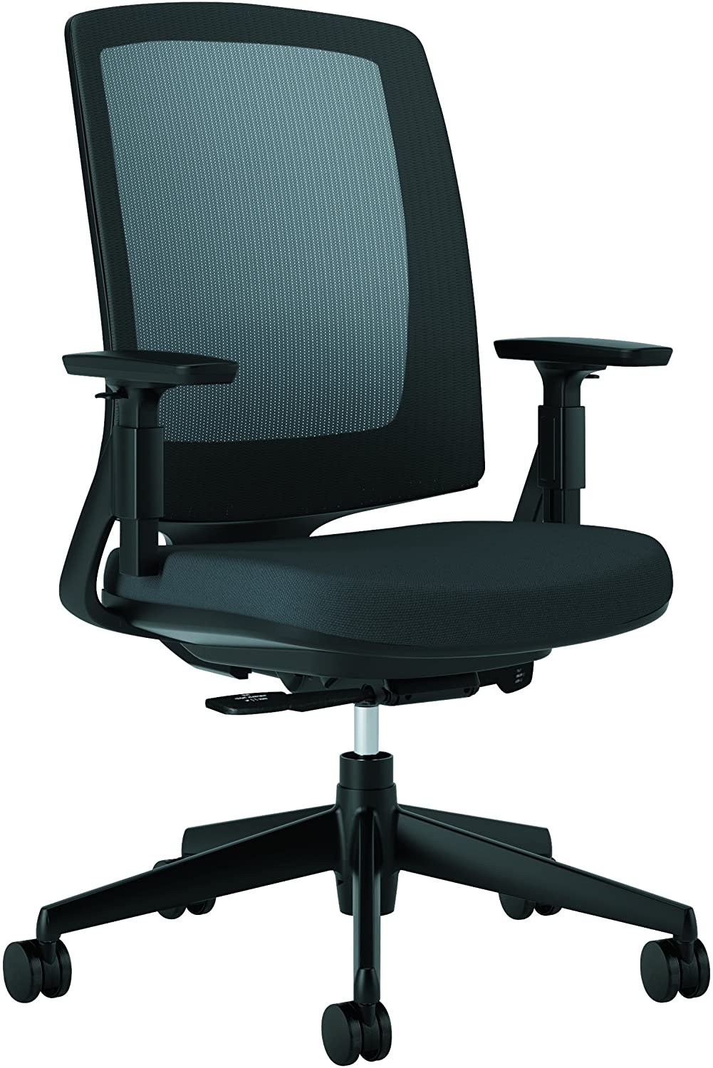 HON HON2281VA10T Lota Office Chair - Mid Back Mesh Desk Chair or Conference Room Chair, Black (H2281)