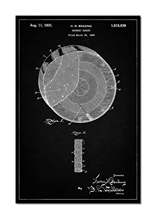 Archery target patent poster