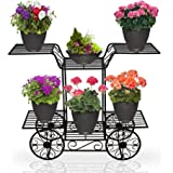 TrustBasket Cart Type Planter Stand for Plants