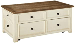 Signature Design by Ashley T637-20 Bolanburg Coffee Table with Lift Top, Two-Tone