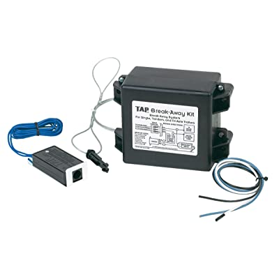 """Hopkins 20019 Trailer Break Away Kit with Battery Charger and 44"""" Switch: Automotive"""