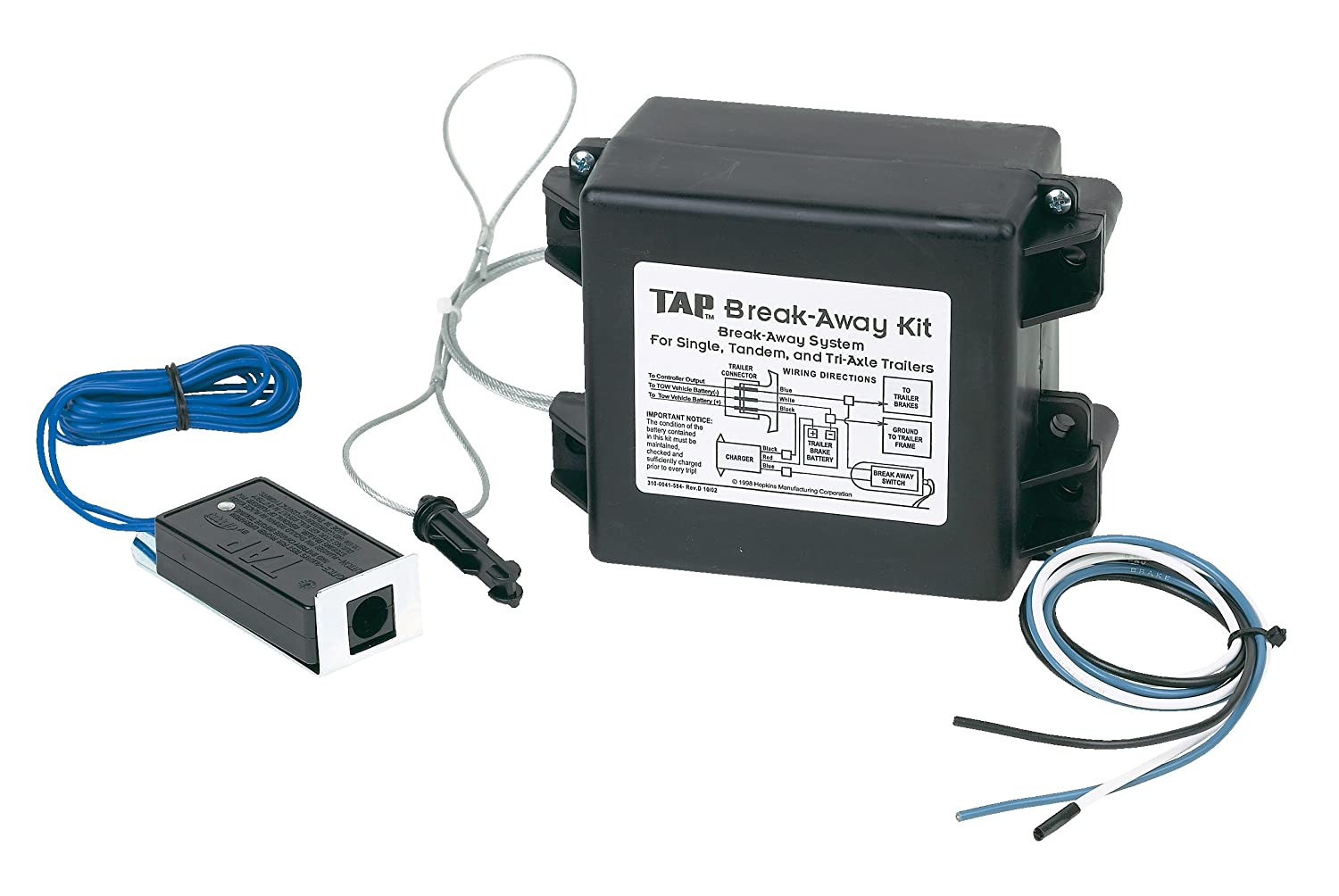 Hopkins 20019 Trailer Break Away Kit With Battery Wiring Diagram For Tandem Axle Charger And 44 Switch Automotive
