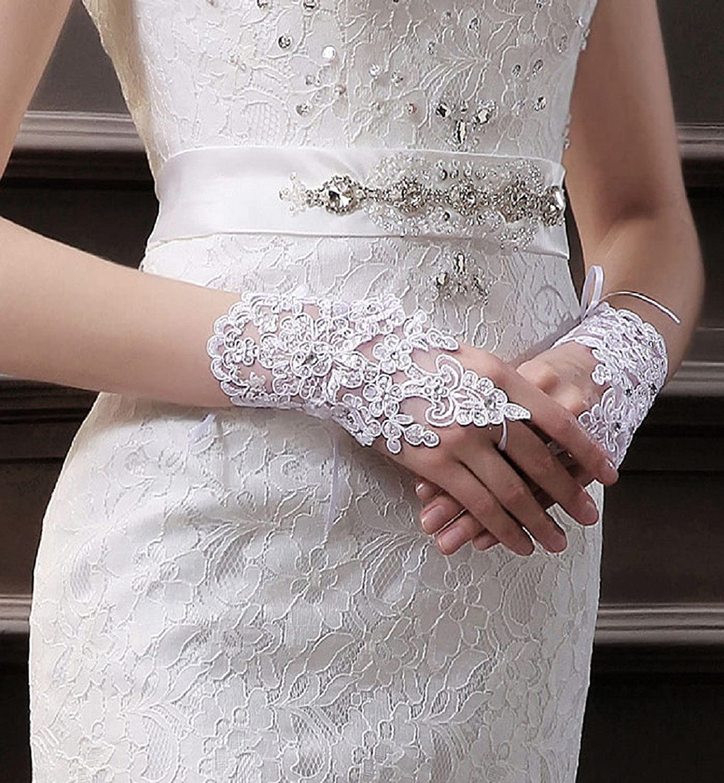 Babyonlinedress/® Brauthandschuhe Abendhandschuhe Hochzeit Party