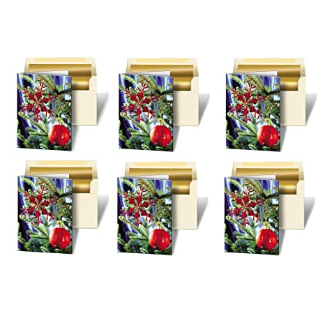 Amazon set of 6 greeting cards 3d lenticular christmas cards set of 6 greeting cards 3d lenticular christmas cards image with christmas ornament tree m4hsunfo