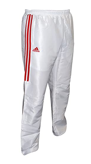 59bc290d9e58 adidas Tracksuit Pants Trousers Bottoms Jogging Navy Black Red White  Martial Arts (White