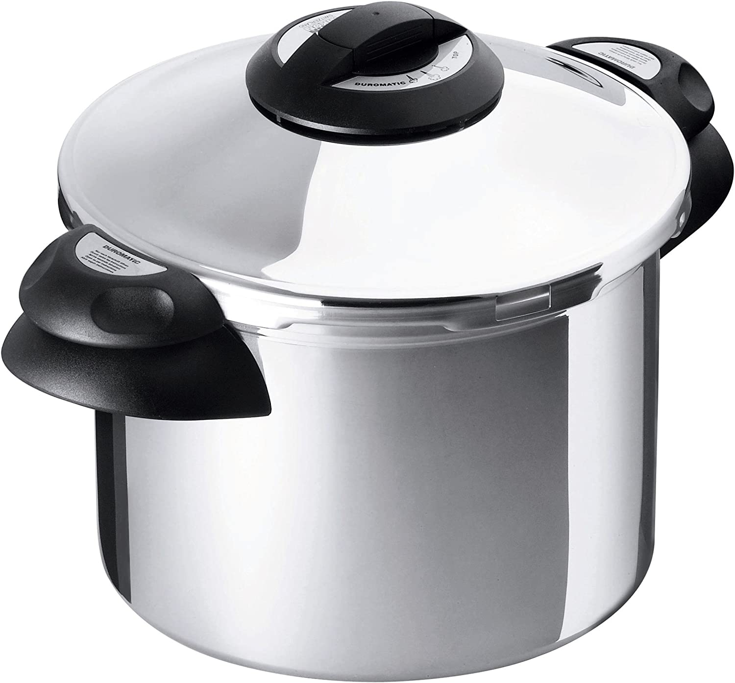 Kuhn Rikon Duromatic Top Stainless Steel Pressure Cooker with Side Grips, 4 Litre / 24 cm
