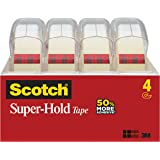 3M スコッチ スーパーホールドテープ 透明テープ 4巻パック ディスペンサー付 小巻 4198