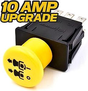 HD Switch Blade Clutch PTO Switch Replaces Exmark Toro 116-0124 - 10 AMP Upgrade