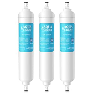 AQUACREST Replacement GXRTQR Refrigerator Water Filter, Compatible with GE GXRTQR GXRTQ System (Pack of 3)