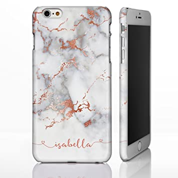 low cost f46a0 55649 Personalised Marble Handwriting Phone Case for iPhone X (10) - 3: Rose Gold  Effect on Grey Marble