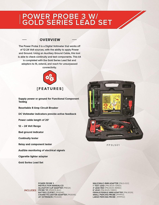 Power Probe PP3LS01 Probador de Circuitos III con Juego de Cables
