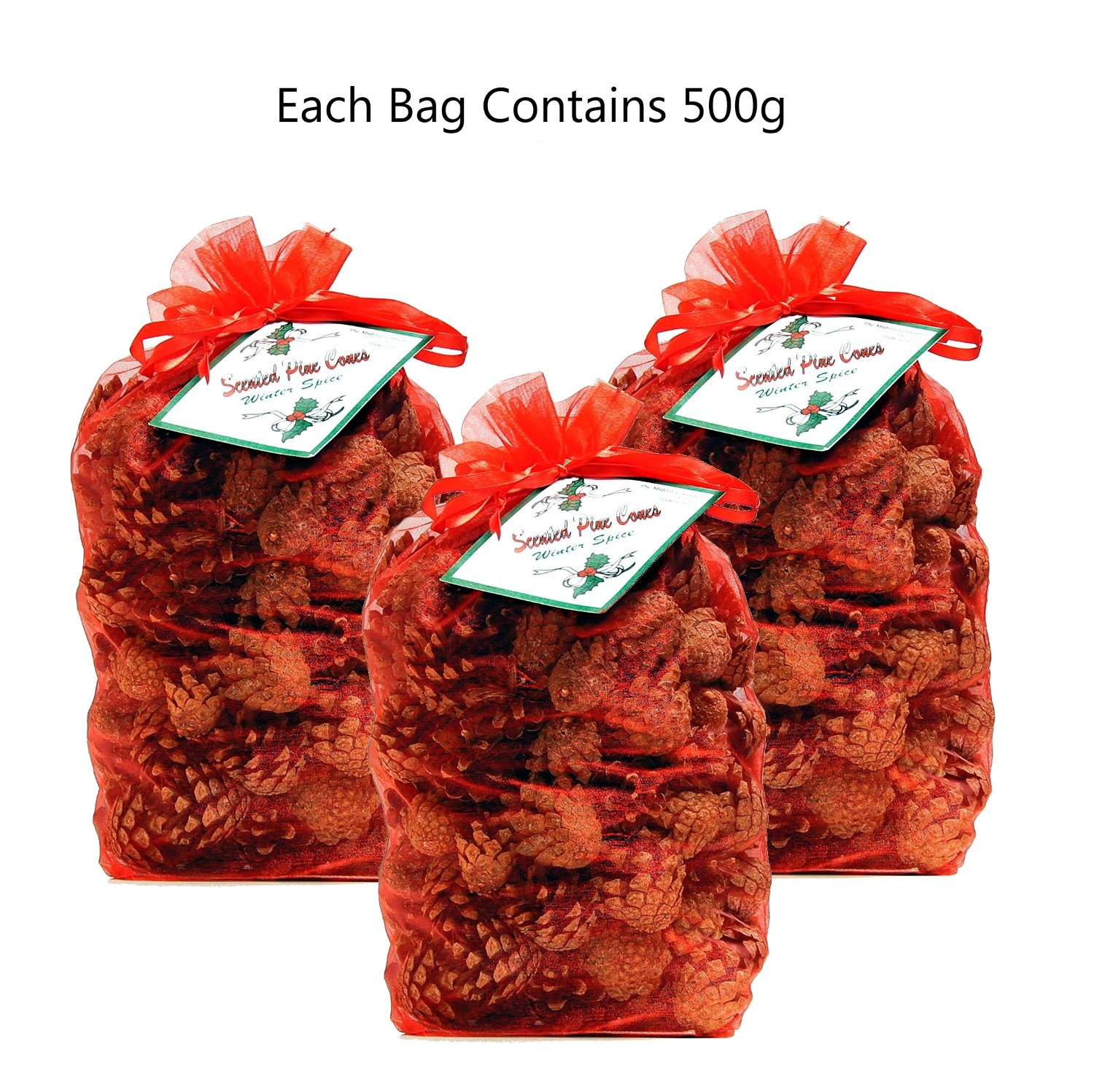 Christmas Scented Pine Cones - Winter Spice 3 x Bags 500g Milford Collection