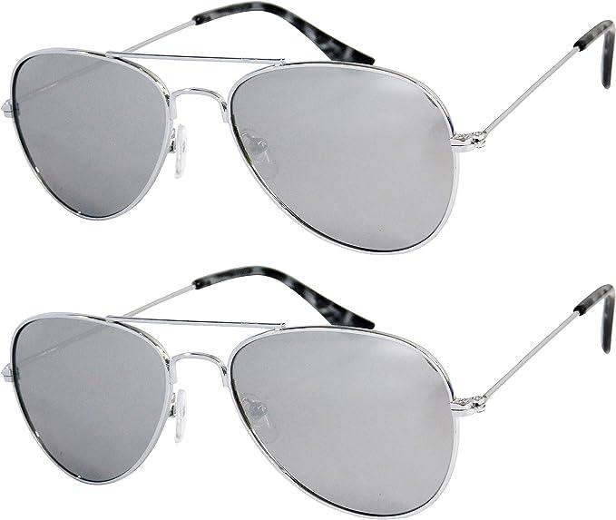Sunglasses Kids Girls Cool Classic Metal Fr Frame Aviators UV 400 Cloth Case