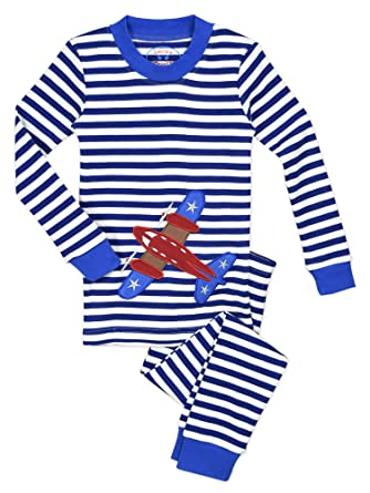 Amazon.com  Sara s Prints Boys Unisex Kids All Cotton Long John Pajamas   Clothing 2f7b34f8e