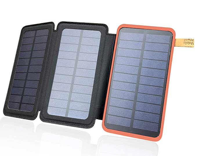 new product d3c53 9ed15 Solar Power Phone Charger by Offgrid Unlimited - Wireless Pack for Outdoor  Life - Portable Battery & Waterproof USB Bank & External Light Panel - ...