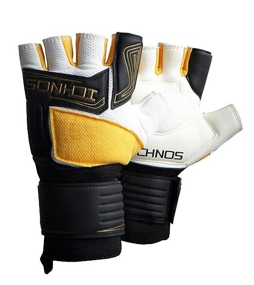 2 opinioni per Ichnos guanti da portiere calcetto / calcio a cinque a mezze dita taglia adulto