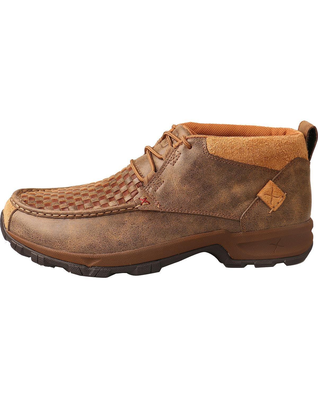 Twisted X Mens Woven Hiker Shoes Moc Toe