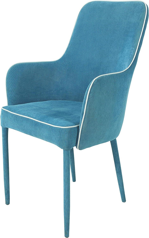 Dining Chair Chairs Set Of 2 Upholstered Chair Armchair Sambra Petrol Blue Amazon De Kuche Haushalt