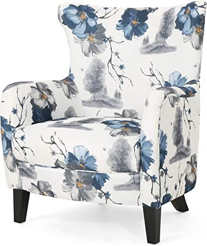 Christopher Knight Home Oliver Fabric Club Chair, Print, Dark Brown