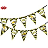 Construction Plant Vehicles Happy Birthday Themed Bunting Banner 15 flags - for simply stylish party decoration by PARTY DECOR