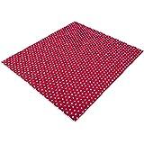 IDEENREICH Baby Krabbeldecke Krabbeltraum| Punkt rot| RUTSCHFEST | 130x150cm | ideal als Spieldecke, Krabbeldecke und Laufgittereinlage