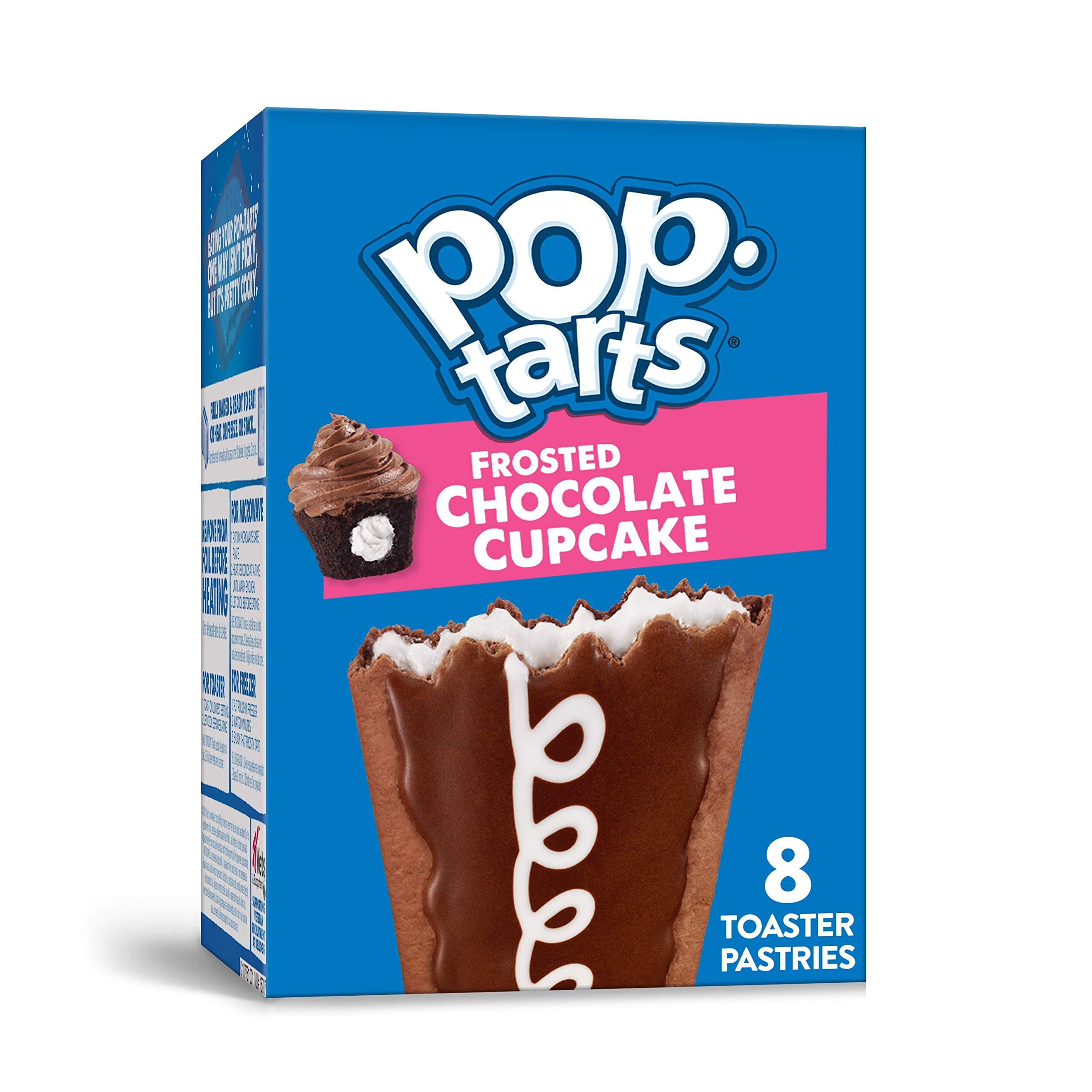 Pop-Tarts, Breakfast Toaster Pastries, Frosted Chocolate Cupcake, Proudly Baked in the USA, Value Pack, 13.5oz Box (4 Count)