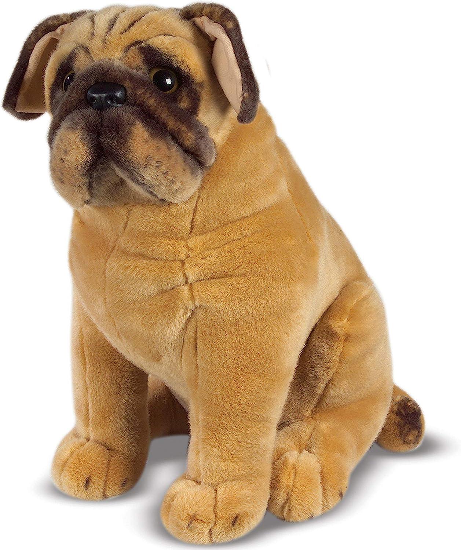 Realistic Pug Stuffed Animal, Amazon Com Melissa Doug Pug Dog Melissa Doug 2125 Toys Games