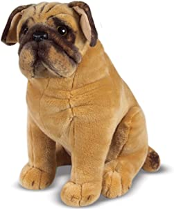 Melissa & Doug Pug Dog (Lifelike Stuffed Animal, Great Gift for Girls and Boys - Best for 3, 4, 5 Year Olds and Up)