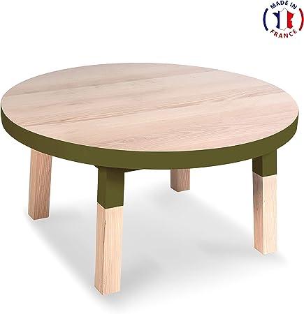 Mon Petit Meuble Francais Table Basse Ronde 100 Frene Massif