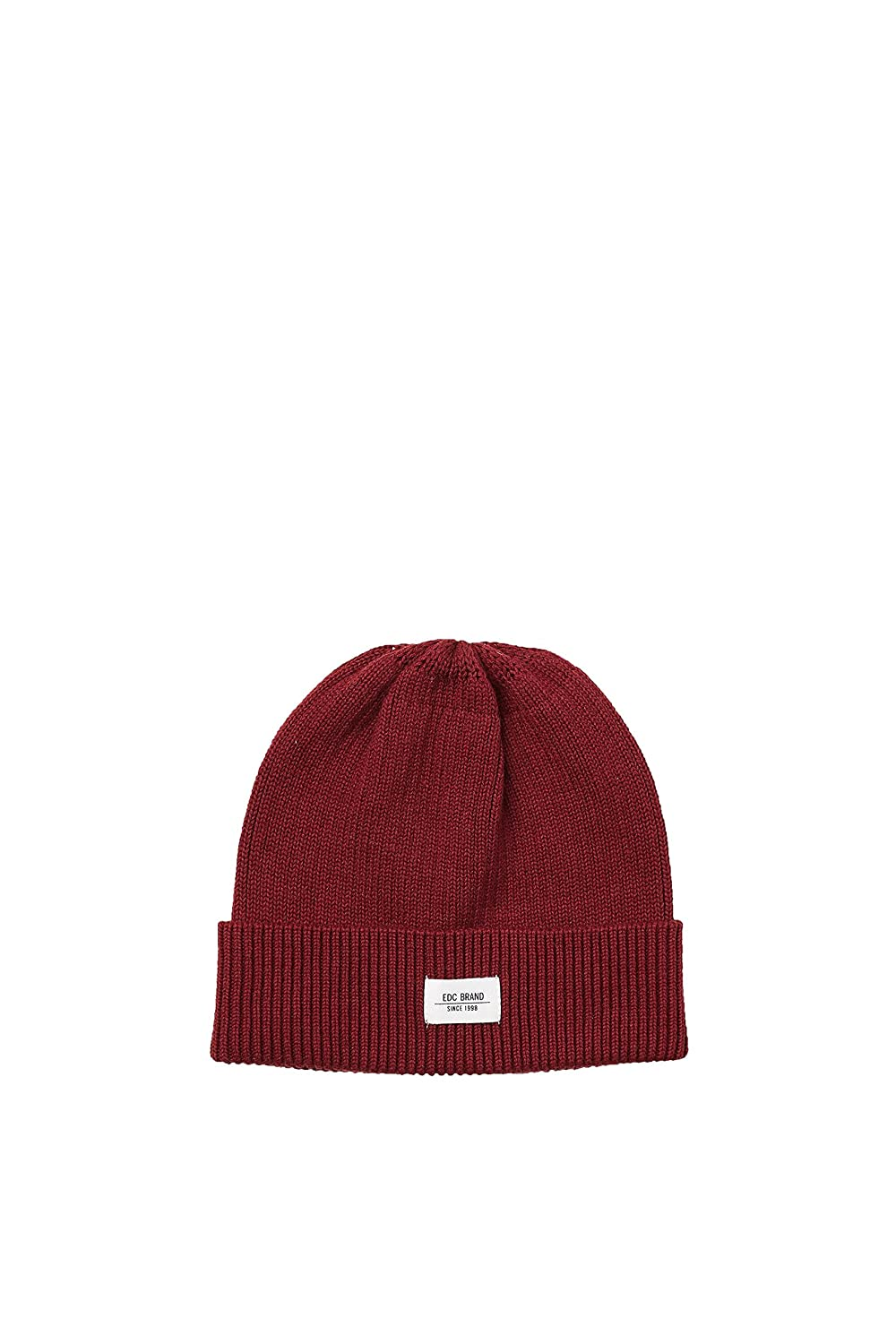 edc by Esprit Accessoires Men s 028ca2p003 Beanie, (Dark Old Pink 675), One  (Size  1SIZE)  Amazon.co.uk  Clothing 3ae993c68ff