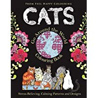Cats Go Around the World Colouring Book