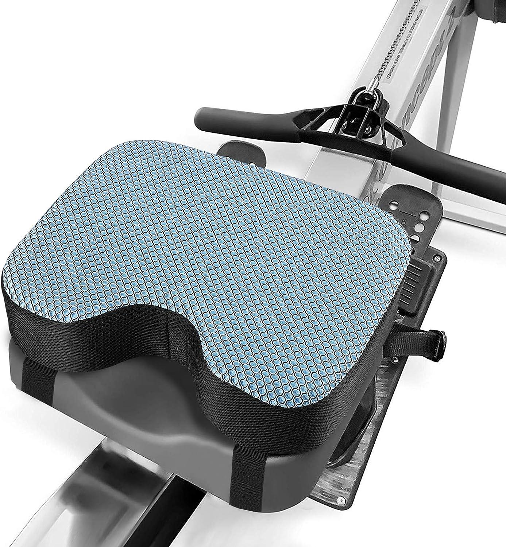 Kohree Cojín para máquina de remo con memoria Remero Concept 2 Modelo D/E, cómodo cojín para máquina de remo de interior, con funda lavable, antideslizante, resistente al sudor, duradero, 33*23*8CM