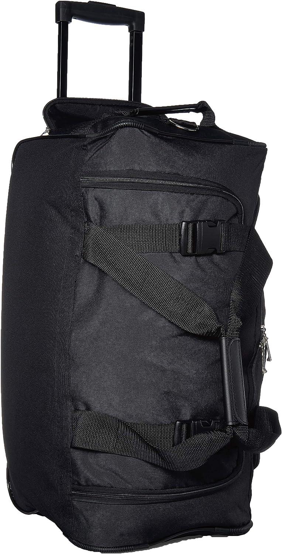 Solid Pattern Business Softside, Black Lightweight Wheeled Duffle Bag