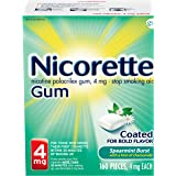 Nicorette 4mg Nicotine Gum to Quit Smoking - Spearmint Burst Flavored Stop Smoking Aid, 160 Count